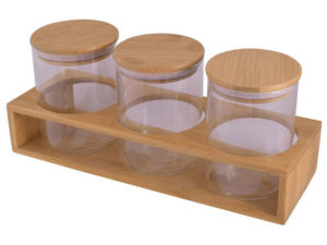 3-Piece Storage Jars & Stand