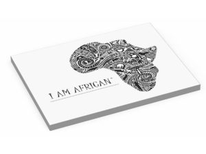 Andy Cartwright  I Am African -  Glass Serving Board