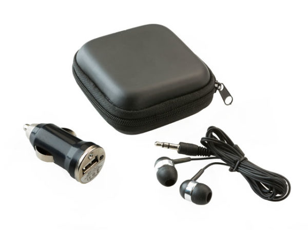 Earbud & Car Charger Set