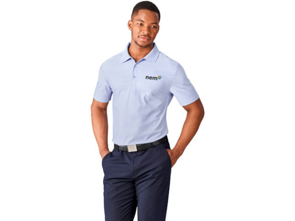 Jacquard Mens Golf Shirt