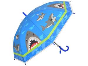 Kids Shark 8-Panel Umbrella And Whistle