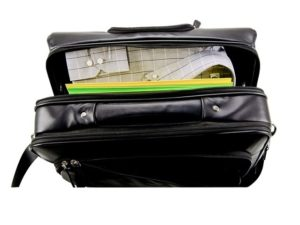 Leather Executive Trolley Case