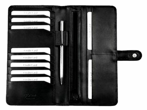 Leather Travel Wallet with Tab