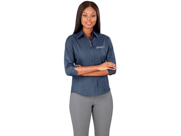 Micro Check 3/4 Sleeve Ladies Shirt