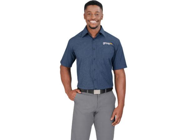 Micro Check Short Sleeve Mens Shirt