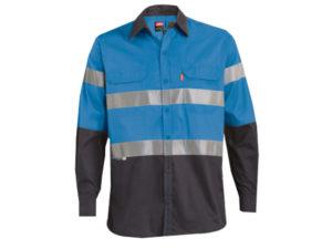 Polycotton Reflective Long Sleeve Work Shirt