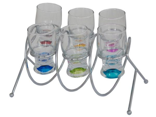 Spiral Stand And Shot Glasses