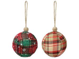 Tartan Festive Ball Duo