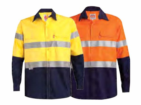Two Tone Long Sleeve Refllective Work Shirt