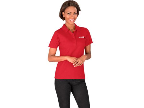 Us Basic - Cardinal Single Jersey Golf Shirt - Ladies