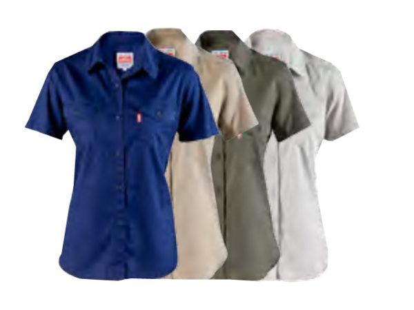 Womens Short Sleeve Work Shirt